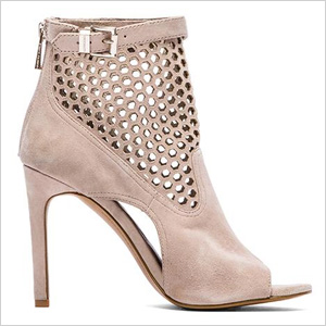 cut-out suede bootie