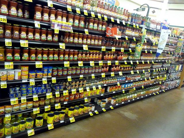 aisle of salsa