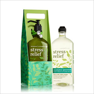 Stress relief body wash and lotion