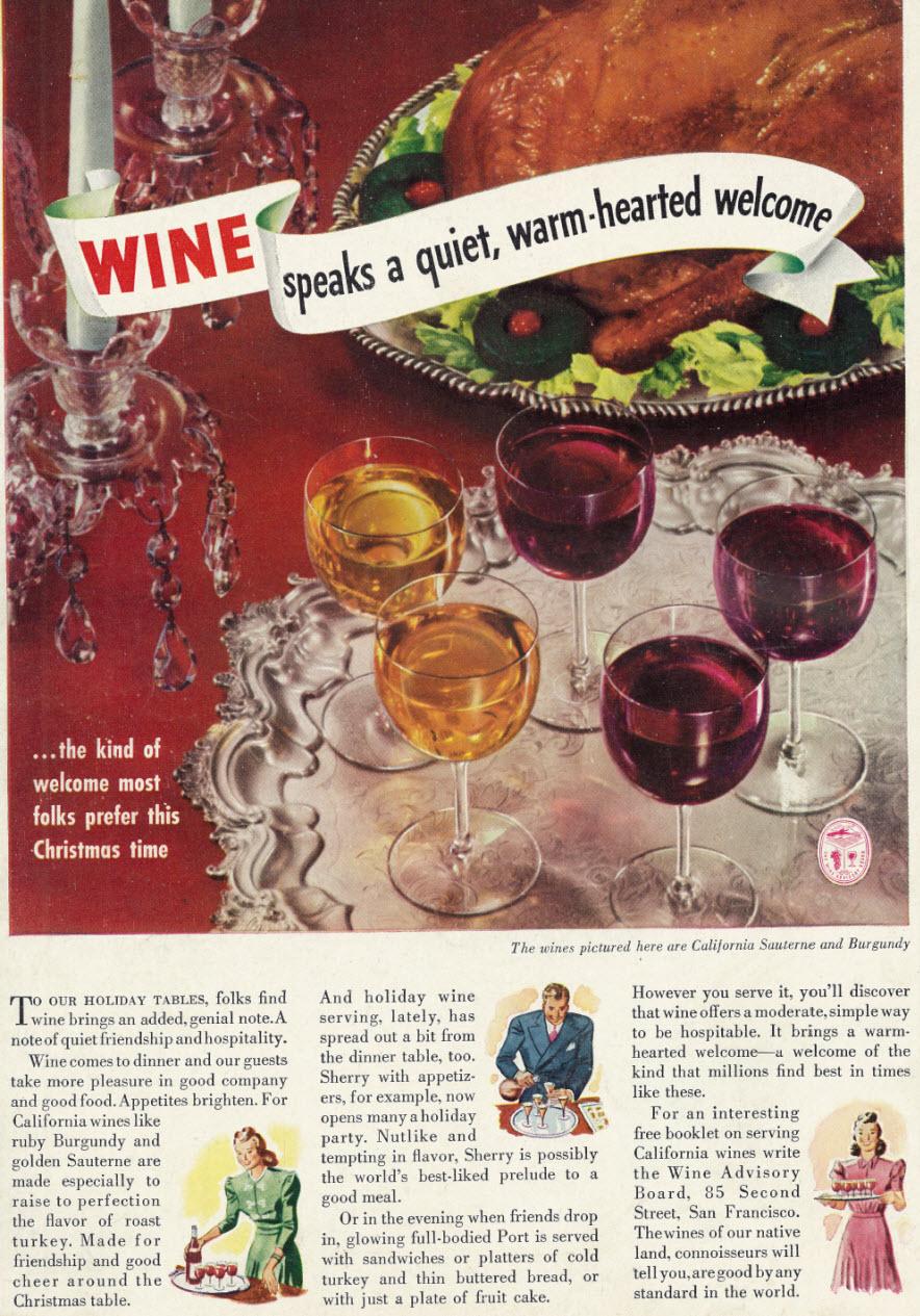 wine vintage ad