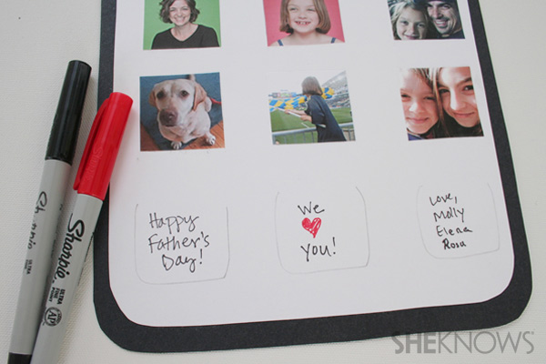 iDad Father's Day card step eleven: write message