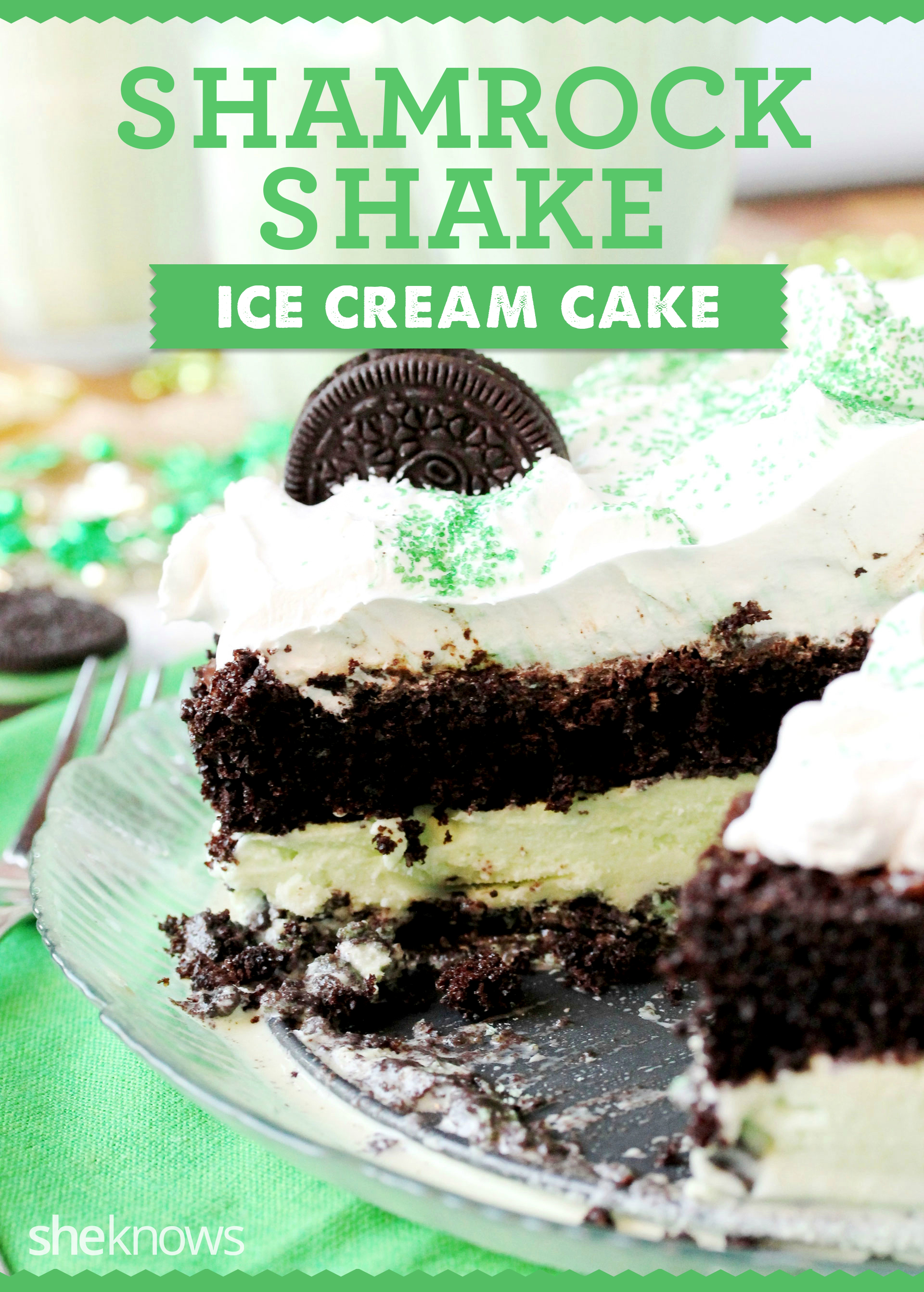 shamrock shake ice cream cake