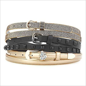 Set of sparkle belts