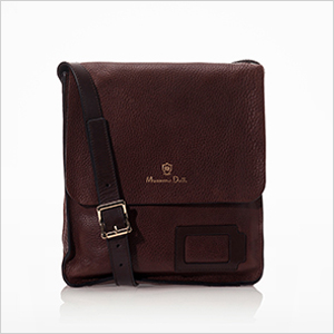 Massimo Duti Embossed Leather Messenger Bag | Sheknows.com