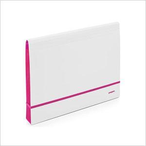Sleek white folio