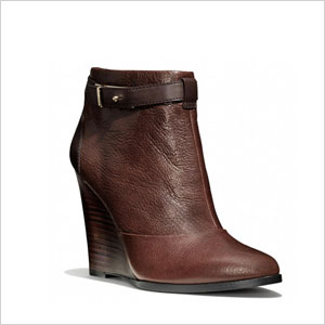 Coach wedge boot