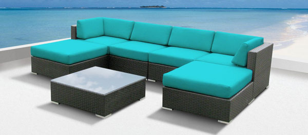 Cool garden furniture Patio Amazoncom Luxxella Wicker Mallina Sectional Sofa Sheknows 15 Amazingly Cool Outdoor Furniture Sets Sheknows