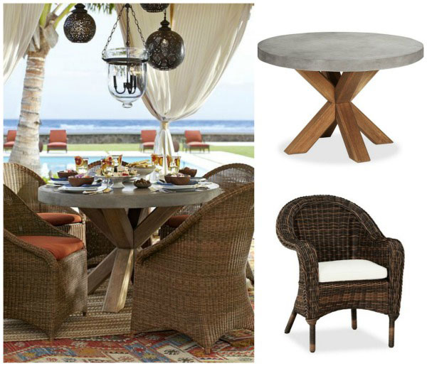 Pottery Barn Abbot table & Torrey chairs