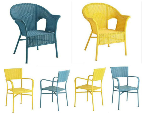 Pier 1 Casbah & Stacking wicker chairs