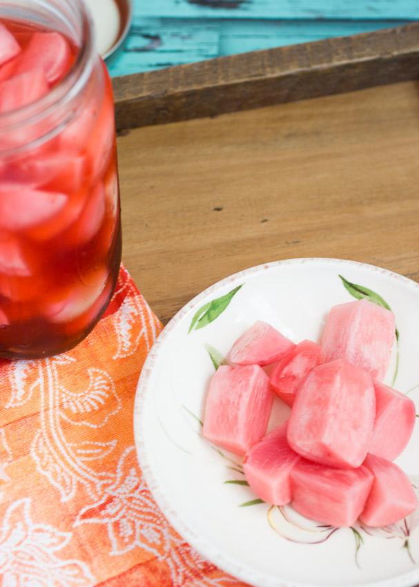 Pickled radish and turnips