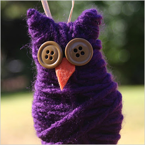 Yarn and button owl craft | Sheknows.com