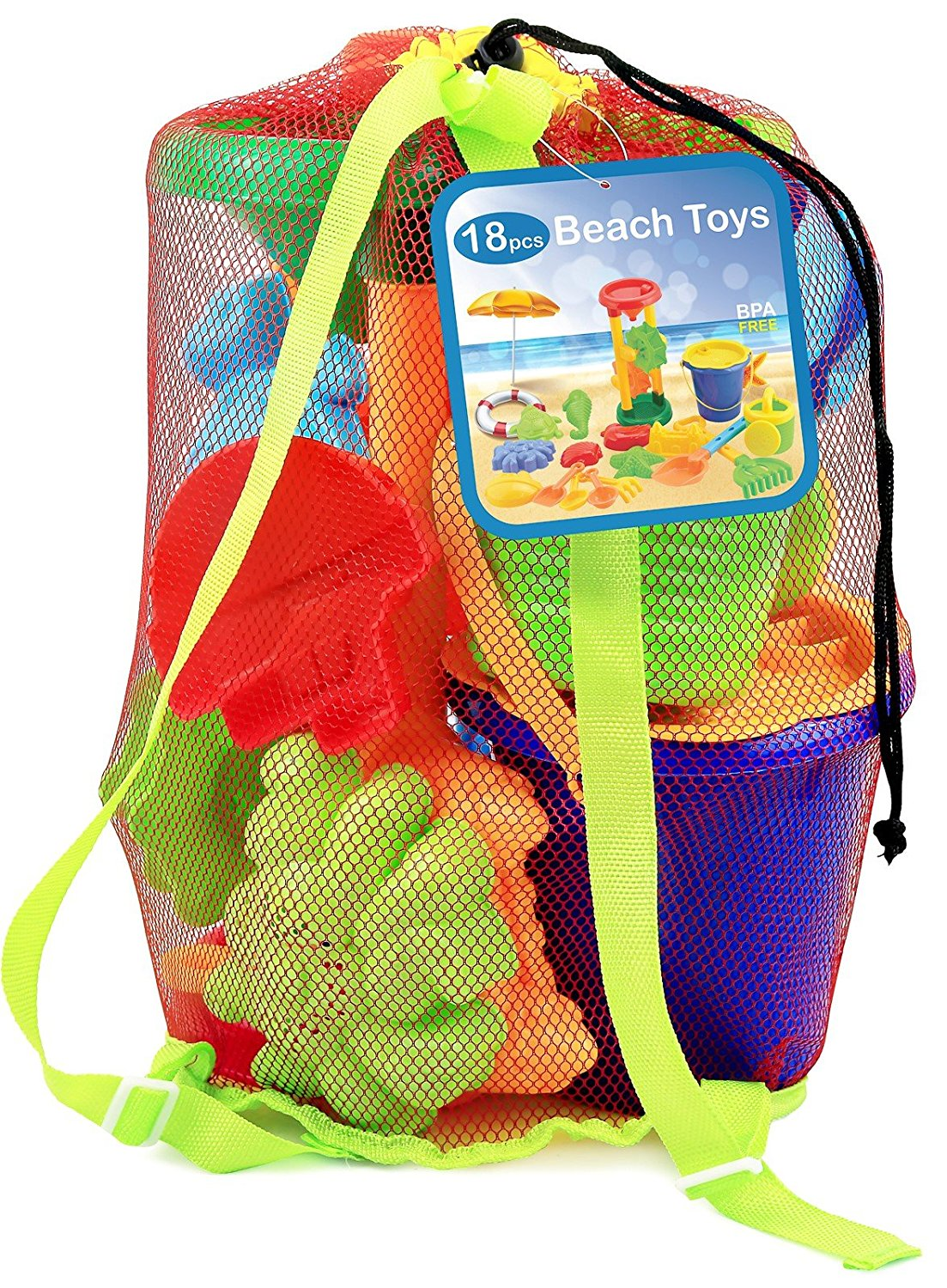Click N' Play 18-piece beach sand toy set