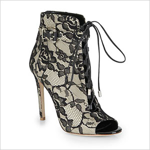 B Brian Atwood black lace boots