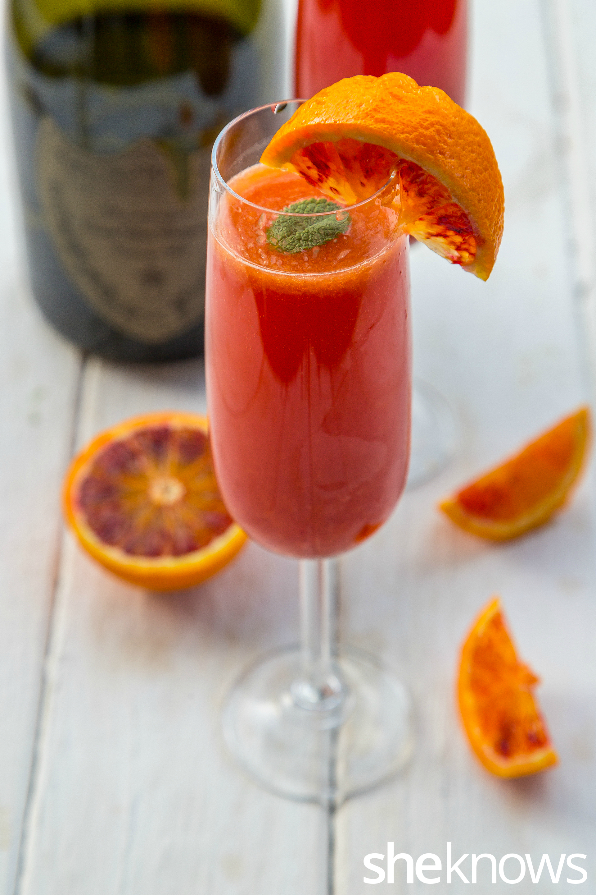 Blood orange and balsamic vinegar mimosa