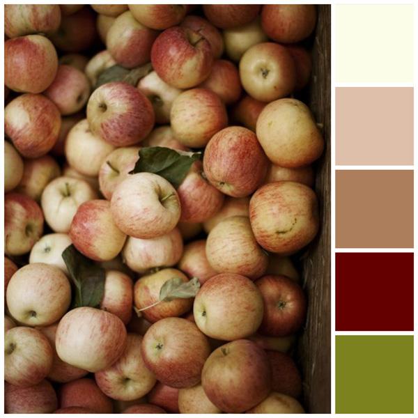 Fall color palette: Apple colors