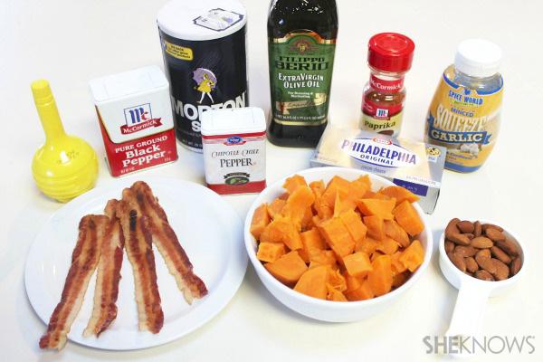 Spicy sweet potato pumpkin bites
