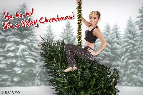 Miley Cyrus Christmas Card