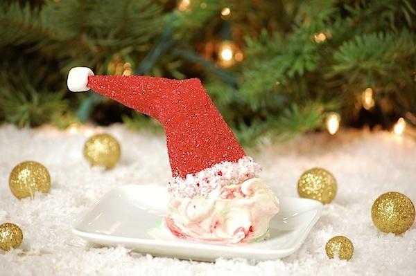 ice cream cone santa hats