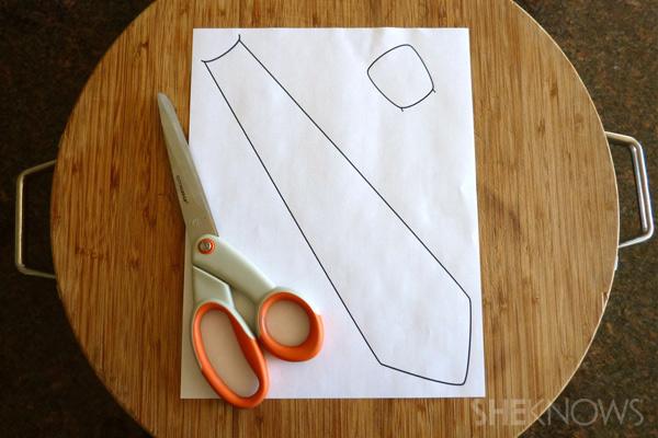 Print necktie template