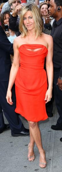 Jennifer Aniston arrives for her fragrance