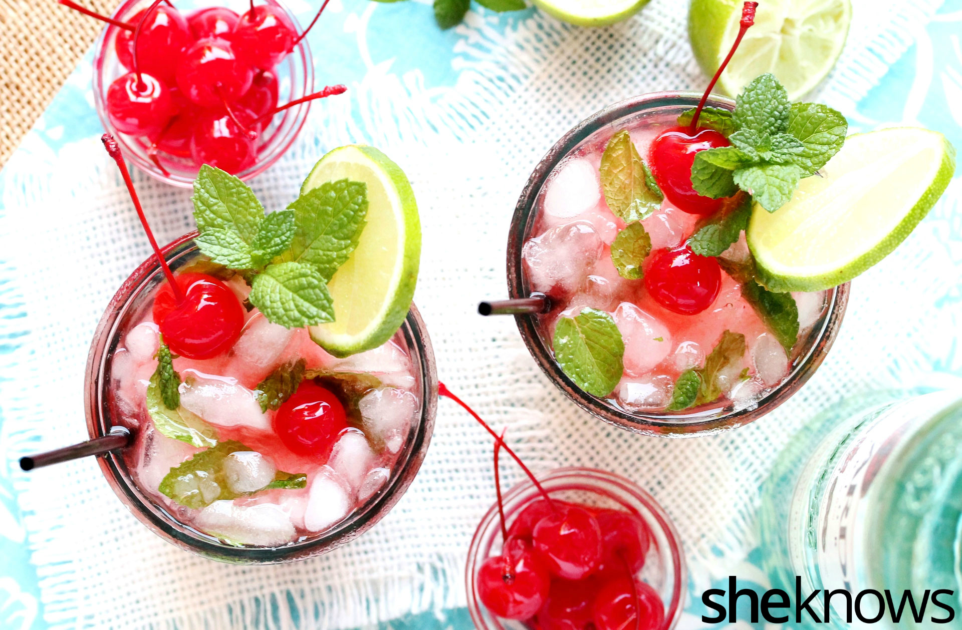 Shirley temple lime mojito