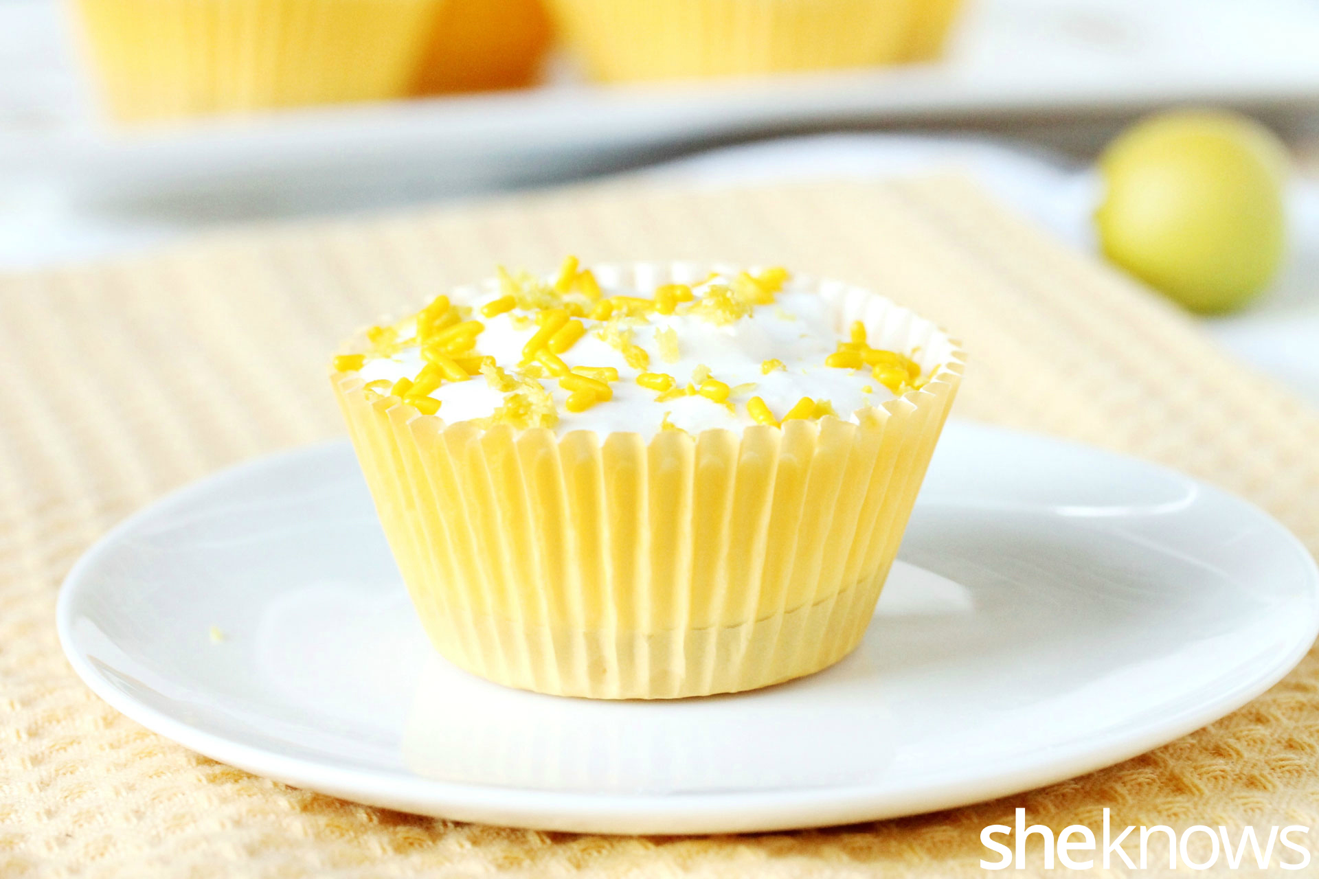 lemon cheese and Cool whip cupcake