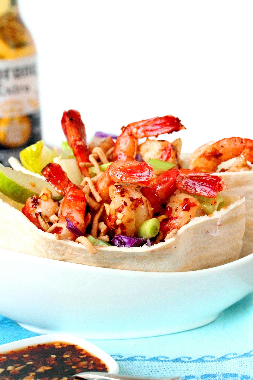 2 Thai shrimp salad pita