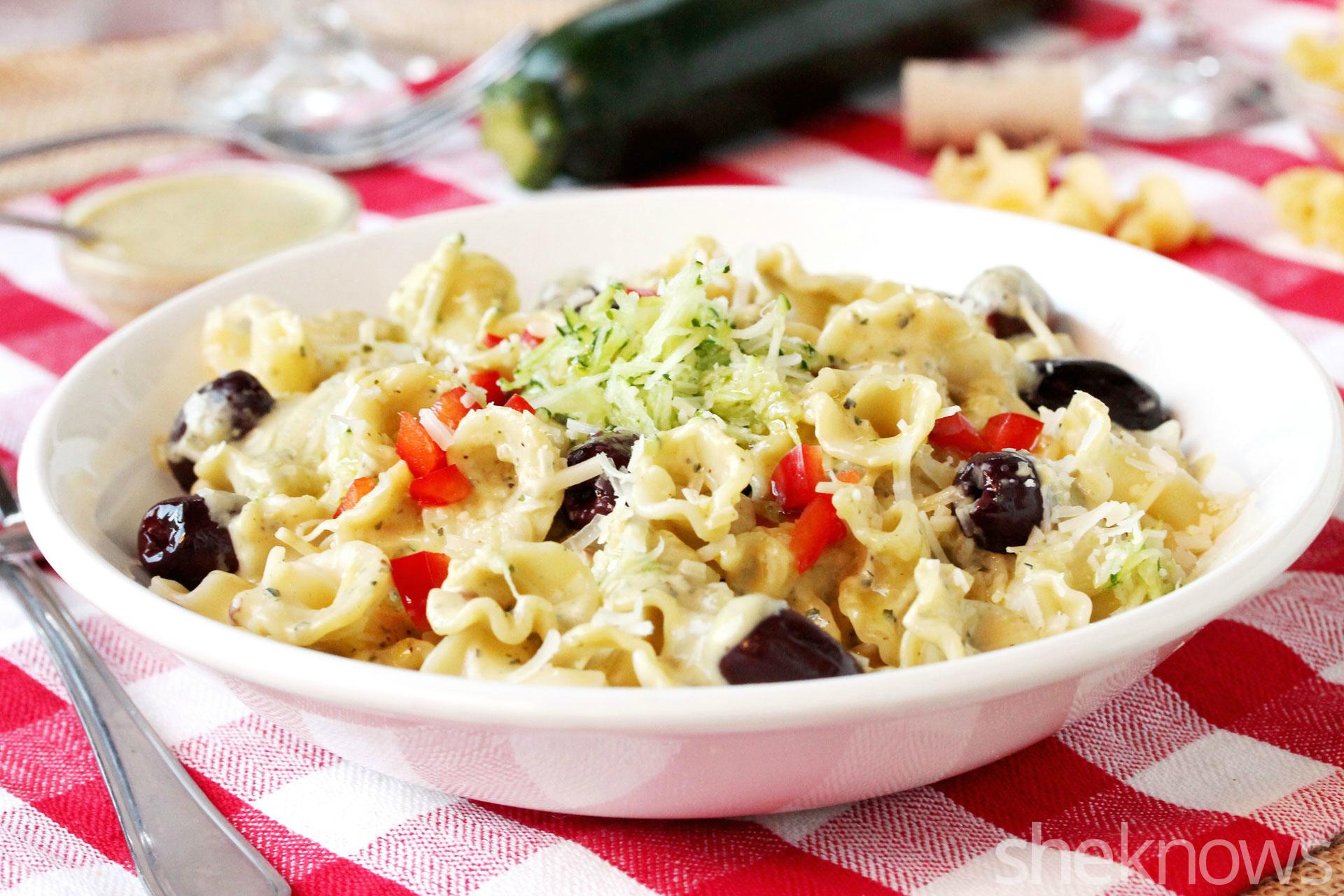2 zucchini cream pasta