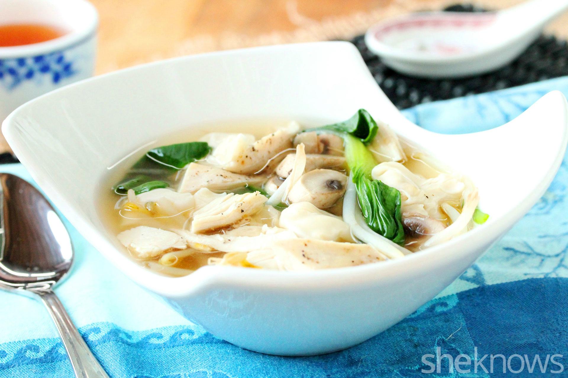 2 wonton soup