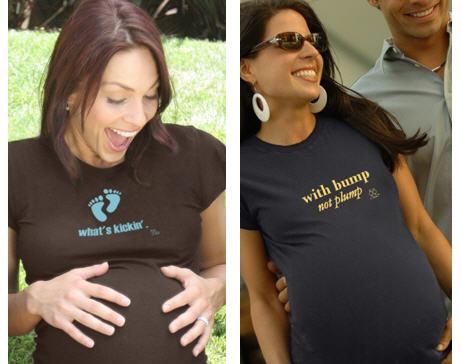 women in cute maternity t-shirts