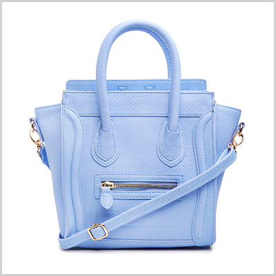 DailyLook Mini Structured Handbag in Periwinkle (dailylook.com, $50)
