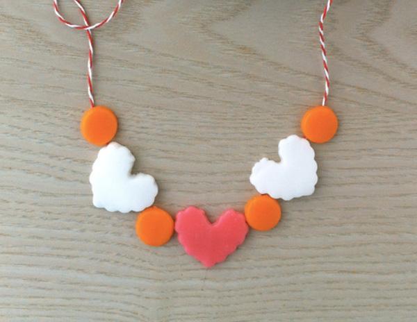 Dessert Candy Heart Necklace