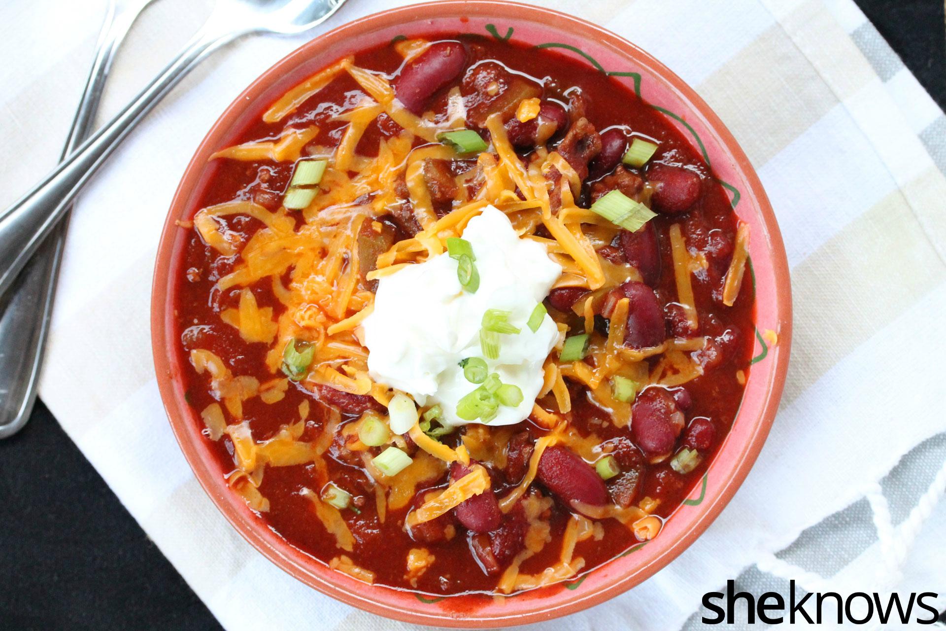 2 kidney bean chili