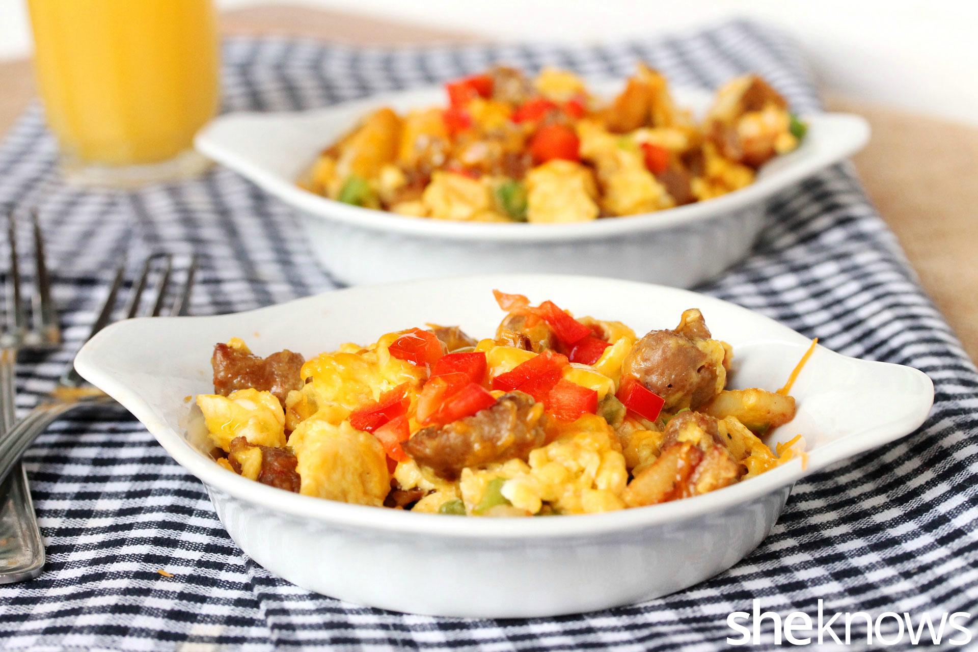 2 sausage scramble