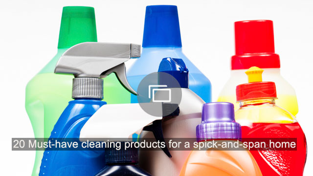 20 Must-have cleaning products for a spick-and-span home