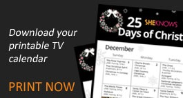 25 Days of Christmas TV calendar
