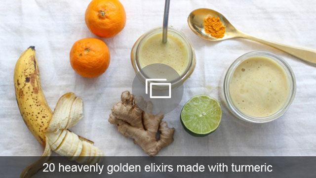 20 heavenly golden elixirs made with turmeric
