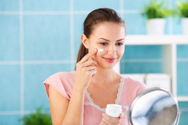 20 something woman skincare