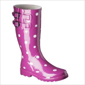 Target Novel Dot Rain Boots (target.com, $30)