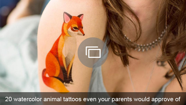 20 watercolor animal tattoos even your parents would approve of