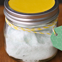 DIY eucalyptus and vanilla bath salts