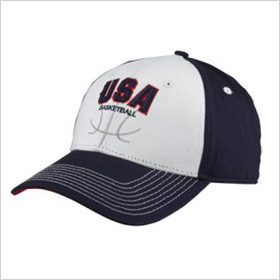 white/navy blue adjustable hat