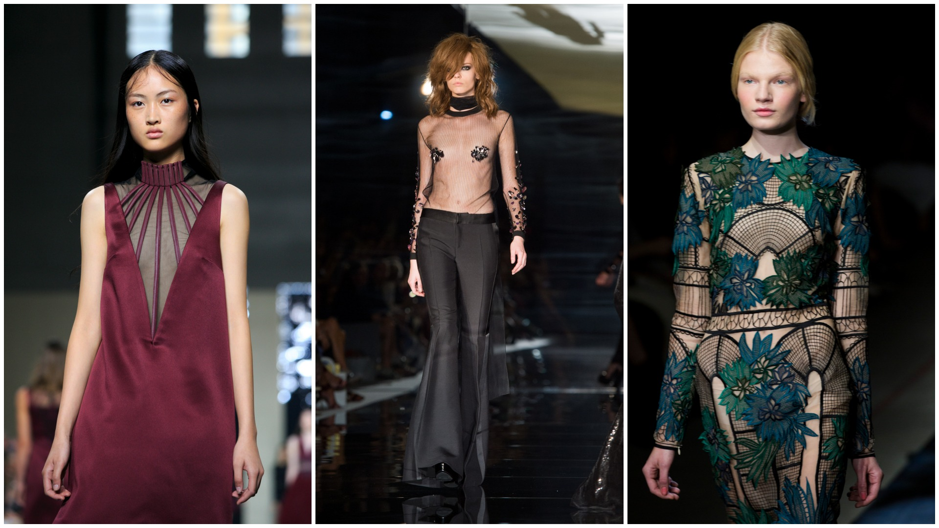 Sheer is a big trend for 2015 fashion