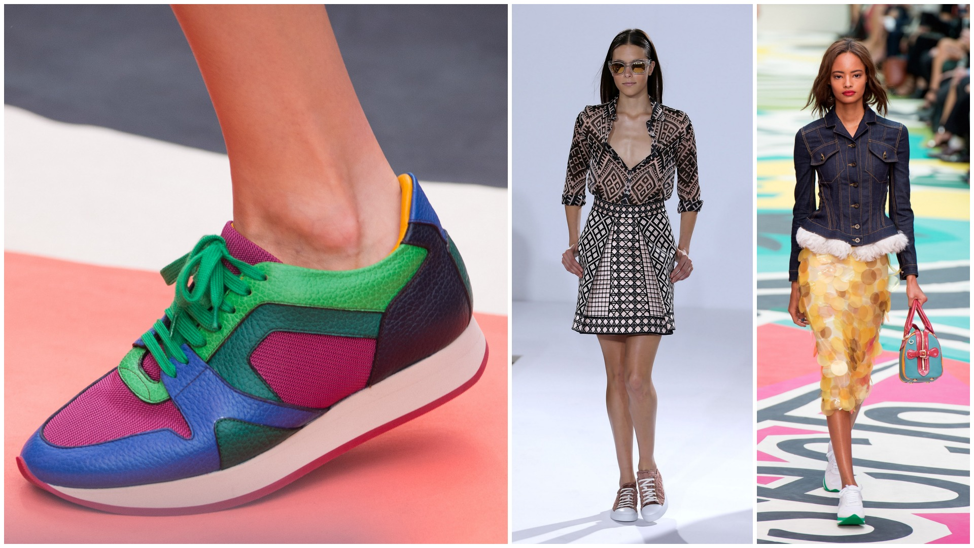 Trainers appeared on the catwalk at London Fashion Week 2014