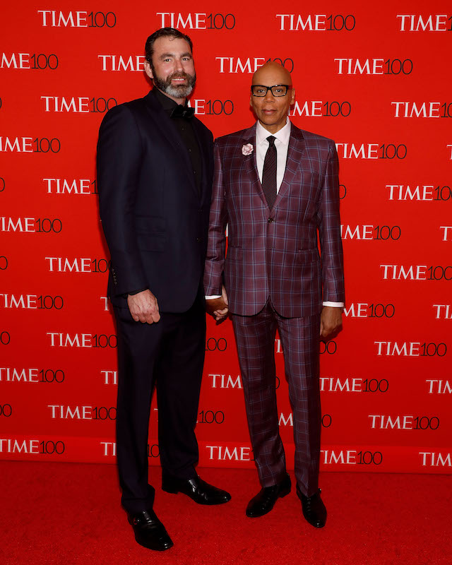 RuPaul and husband Georges LeBar at the Time 100 Gala