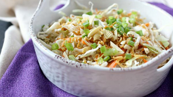 Toasted ramen noodle salad