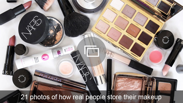 21 photos of how real people store their makeup