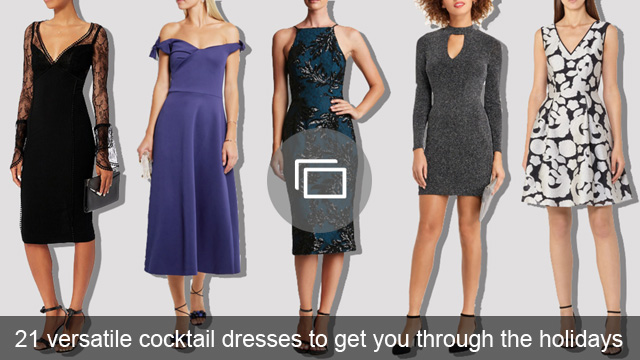 21 versatile cocktail dresses to get you through the holidays