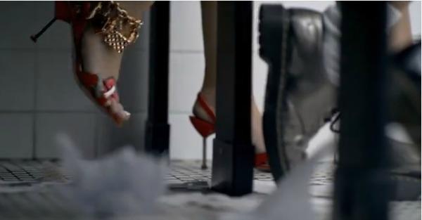 Miley Cyrus red heels in 23