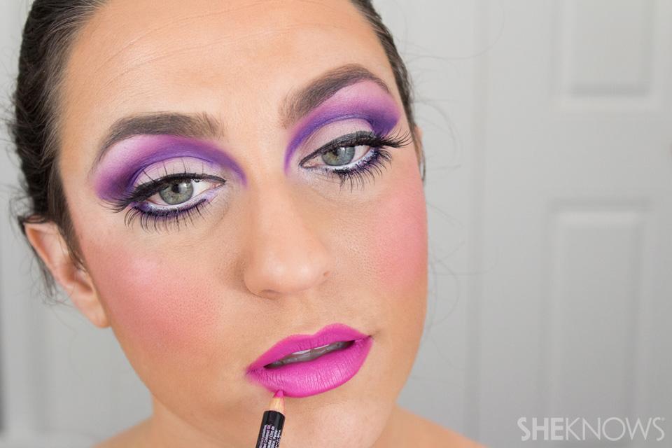 Barbie Halloween Makeup: Step 24